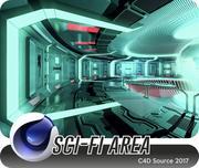 Sci-fi Area 3d model