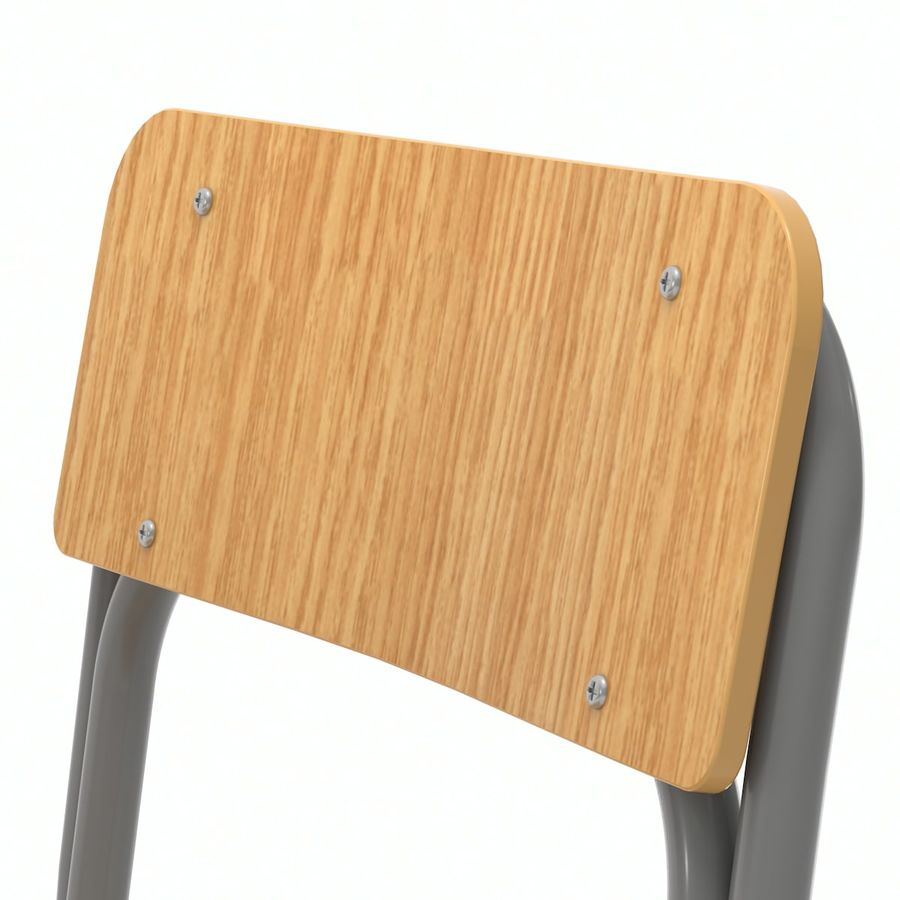 Bureau d'école et chaise V2 royalty-free 3d model - Preview no. 12