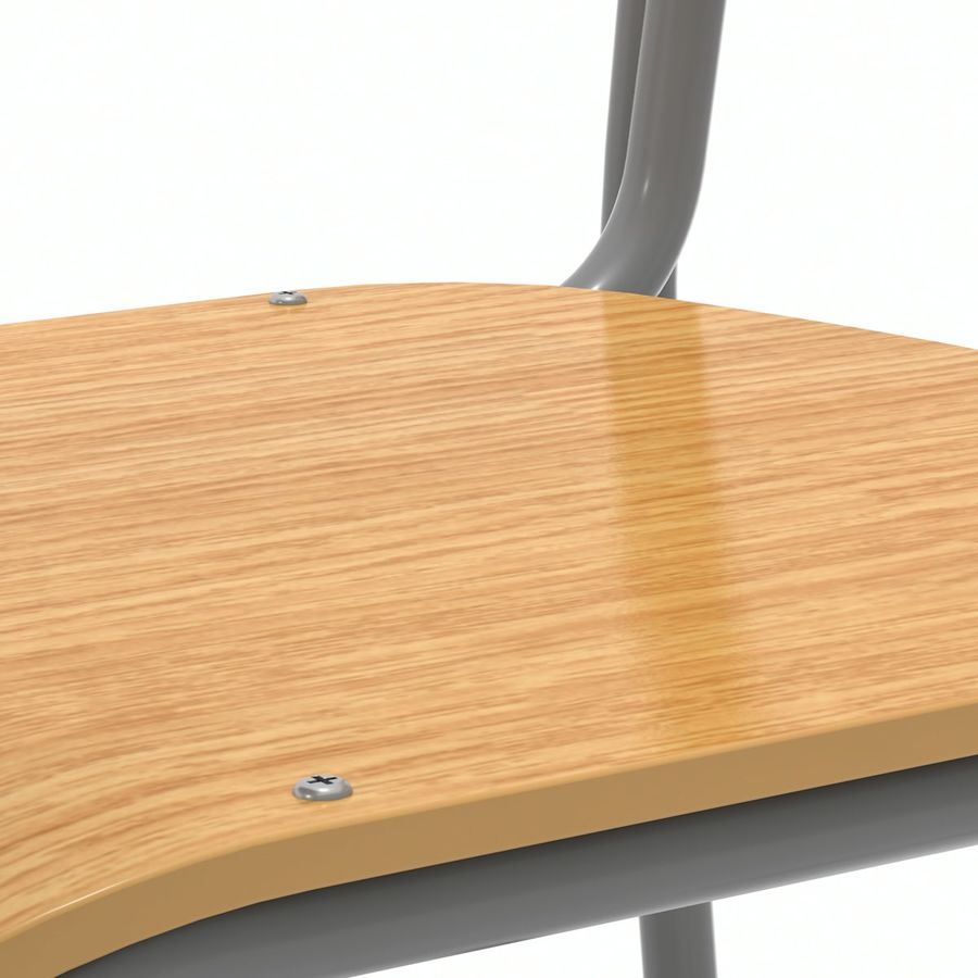 School Desk and Chair V2 royalty-free 3d model - Preview no. 13