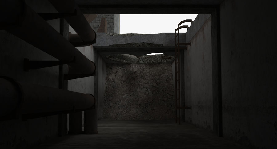 Abandoned Industrial Building royalty-free 3d model - Preview no. 26