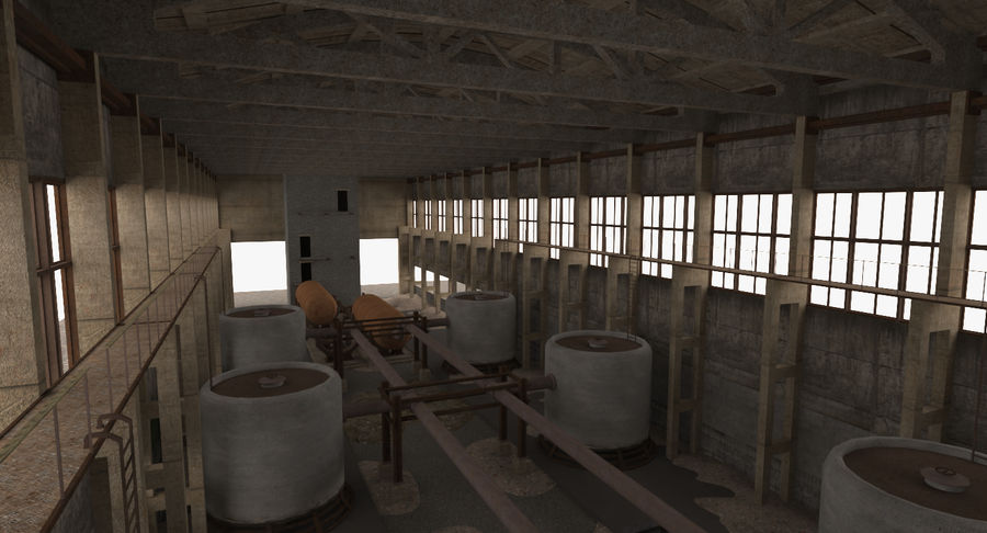 Abandoned Industrial Building royalty-free 3d model - Preview no. 2