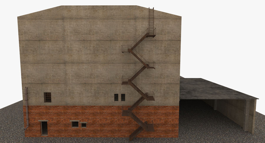 Abandoned Industrial Building royalty-free 3d model - Preview no. 16