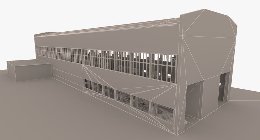 Abandoned Industrial Building royalty-free 3d model - Preview no. 23