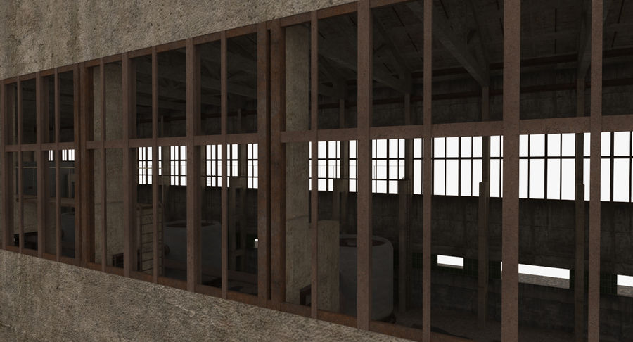 Abandoned Industrial Building royalty-free 3d model - Preview no. 18