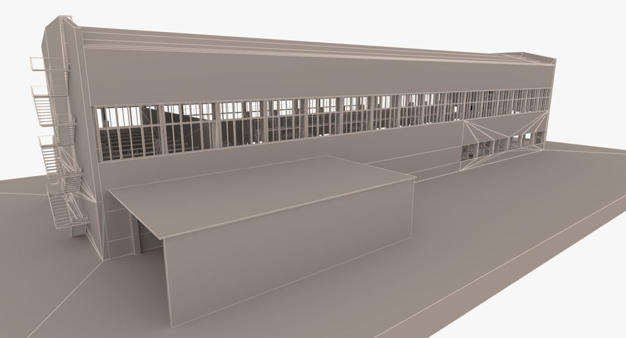 Abandoned Industrial Building royalty-free 3d model - Preview no. 21