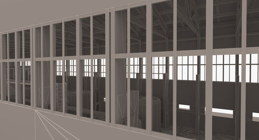 Abandoned Industrial Building royalty-free 3d model - Preview no. 19