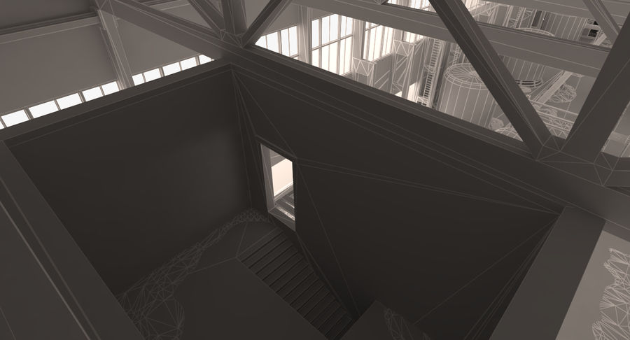 Abandoned Industrial Building royalty-free 3d model - Preview no. 11
