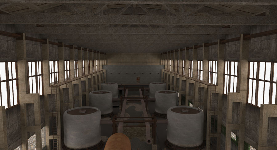 Abandoned Industrial Building royalty-free 3d model - Preview no. 6