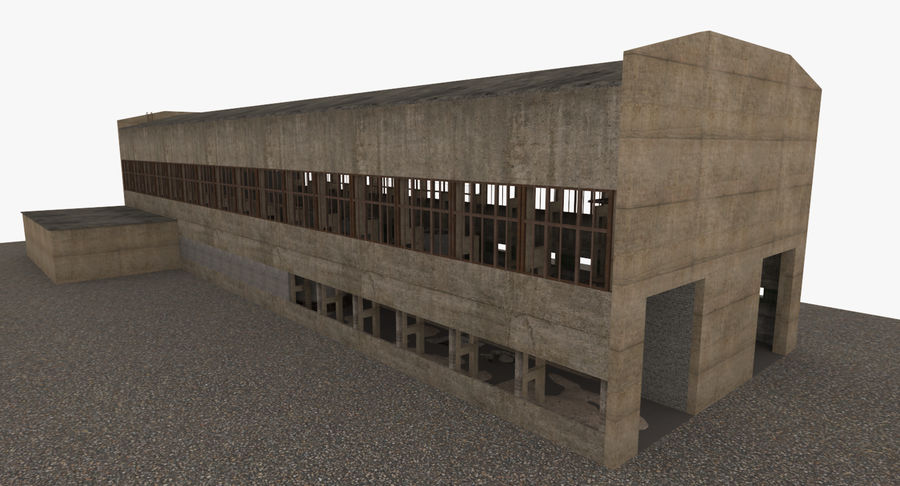 Abandoned Industrial Building royalty-free 3d model - Preview no. 22