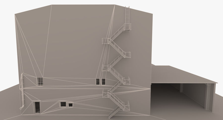 Abandoned Industrial Building royalty-free 3d model - Preview no. 17