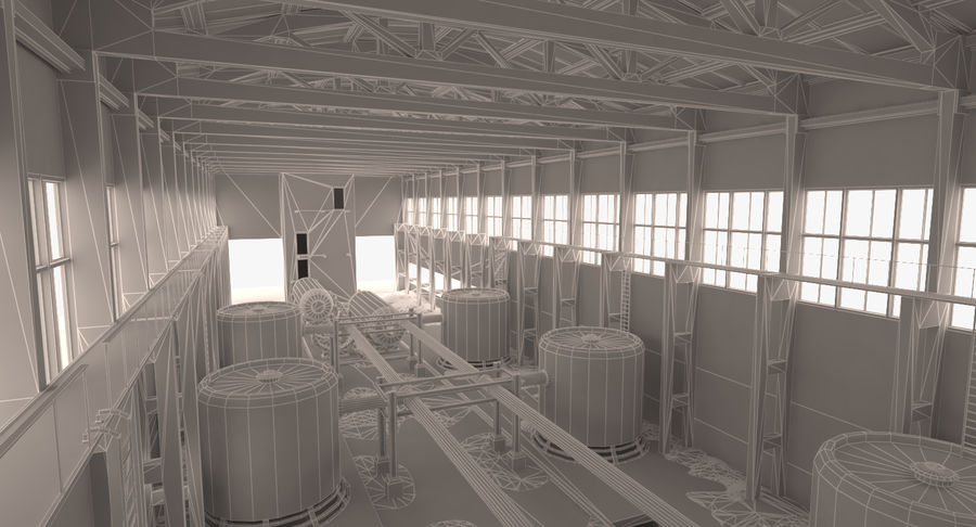 Abandoned Industrial Building royalty-free 3d model - Preview no. 3