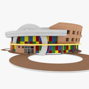 市概念幼稚園 3d model