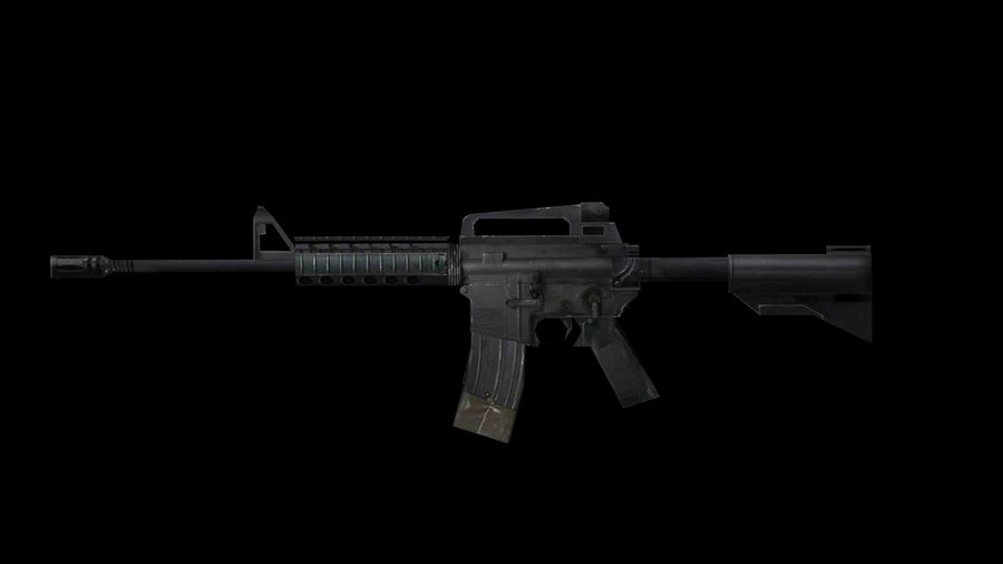 Assault Rifles Weapons Pack royalty-free 3d model - Preview no. 5