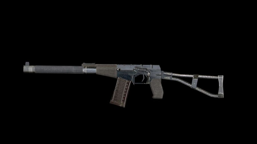 Assault Rifles Weapons Pack royalty-free 3d model - Preview no. 6