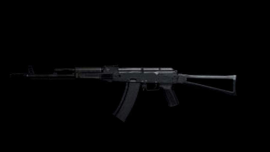 Assault Rifles Weapons Pack royalty-free 3d model - Preview no. 3