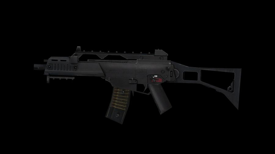 Assault Rifles Weapons Pack royalty-free 3d model - Preview no. 7