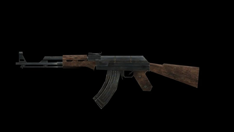 Assault Rifles Weapons Pack royalty-free 3d model - Preview no. 2
