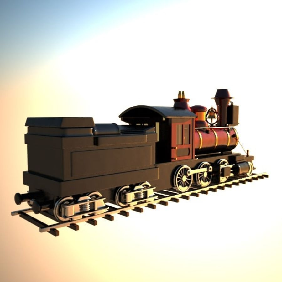 Toon Train royalty-free 3d model - Preview no. 10