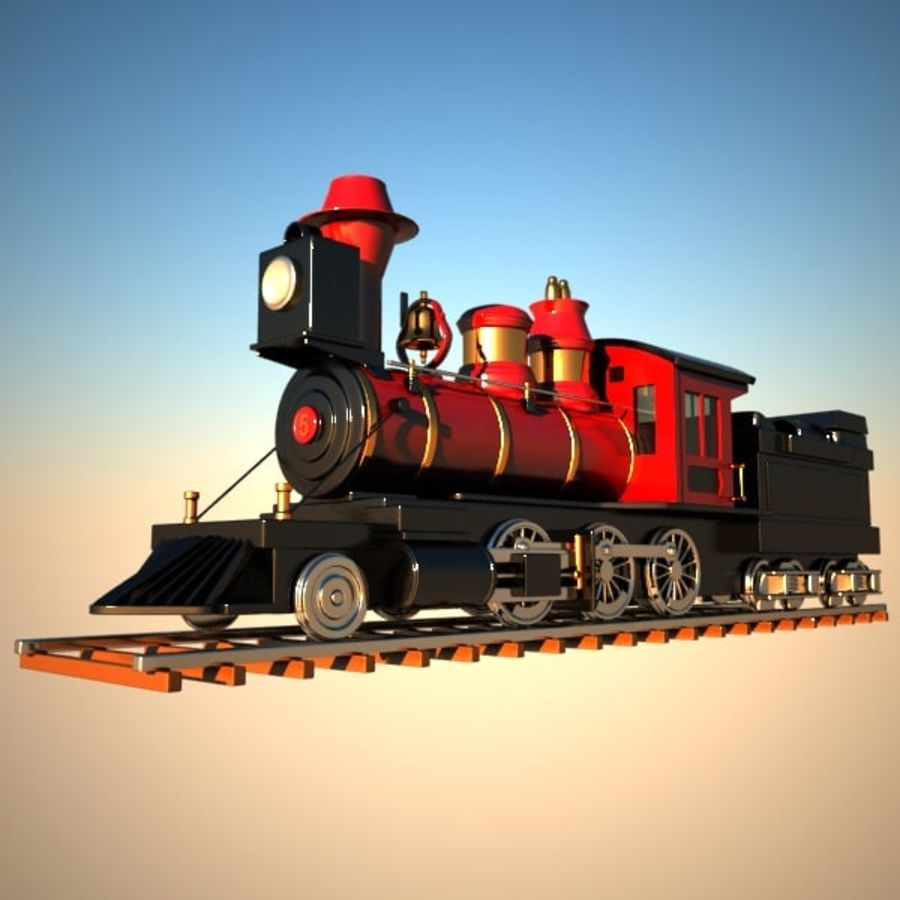 Toon Train royalty-free 3d model - Preview no. 3