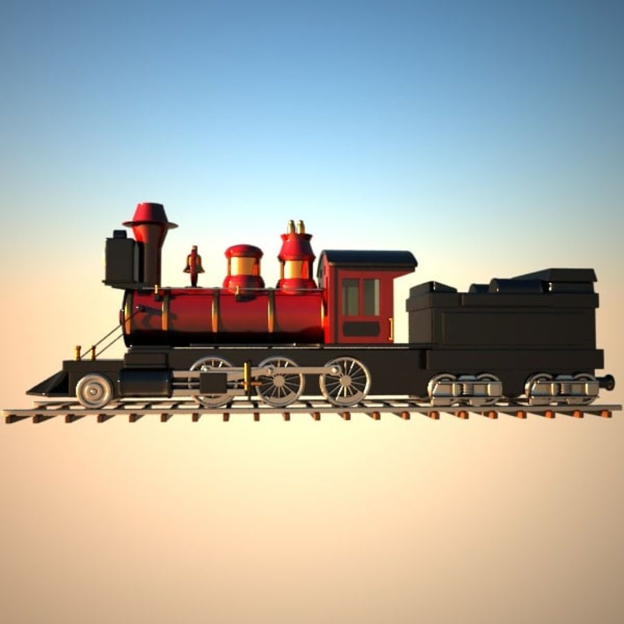 Toon Train royalty-free 3d model - Preview no. 4