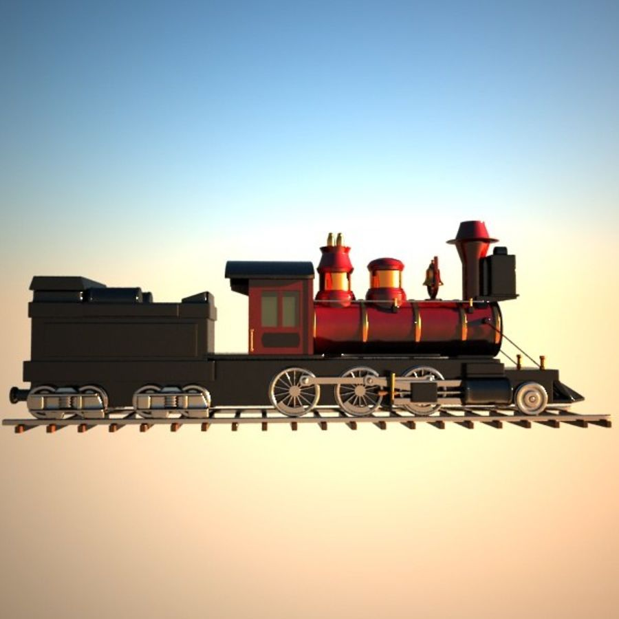 Toon Train royalty-free 3d model - Preview no. 9