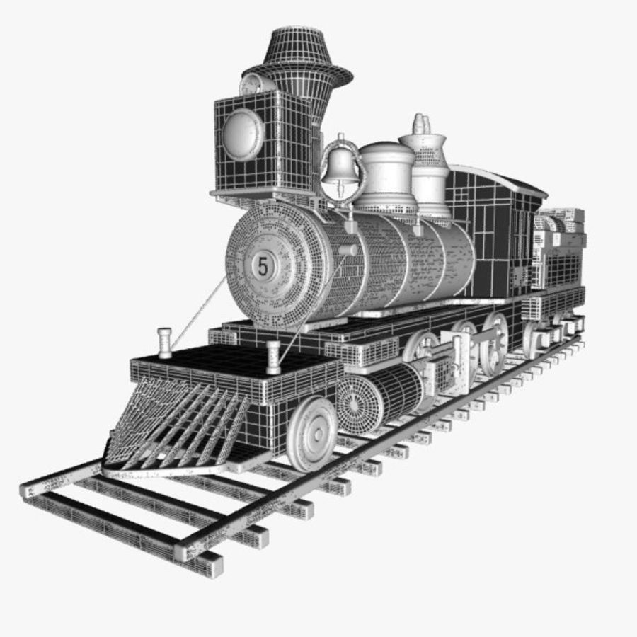 Toon Train royalty-free 3d model - Preview no. 14