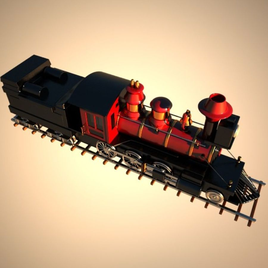 Toon Train royalty-free 3d model - Preview no. 11