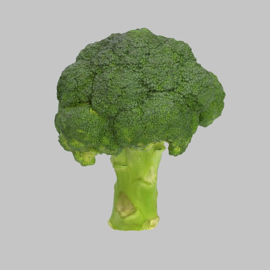 Broccoli royalty-free 3d model - Preview no. 1