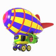 Toon Airship 3d model