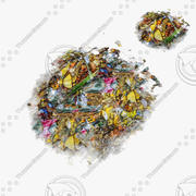 Garbage Street Ground Under Plane Pile Banana Orange Edible Damage Prop Rubble Polution Debris rot dustbin 3d model
