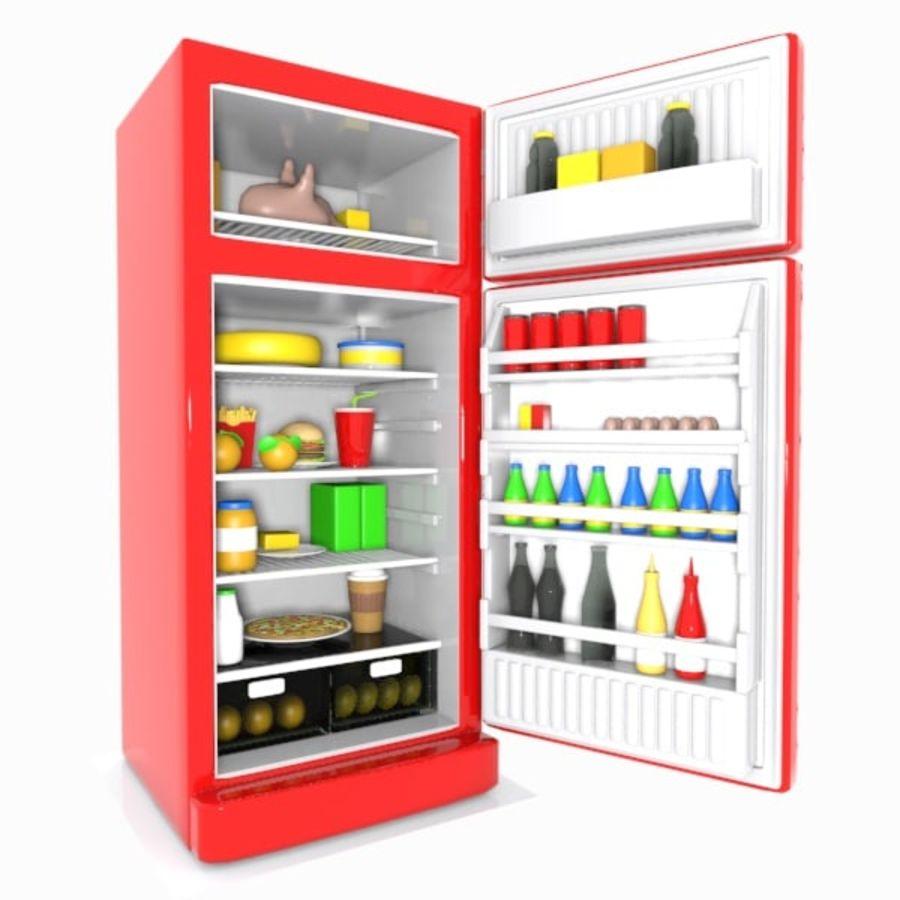 Cartoon refrigerator 3d model 19 obj oth fbx 3ds for Programa para cocinas 3d gratis