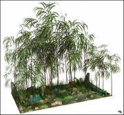 Bambu Tree Landscape 3d model