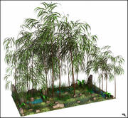 Bambu Tree Landscape 3d model