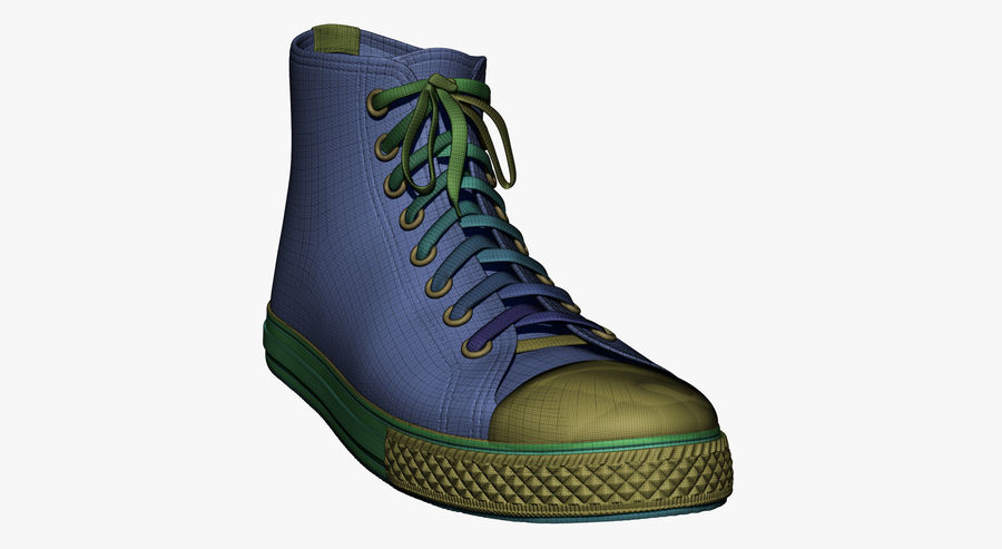 Shoes royalty-free 3d model - Preview no. 21