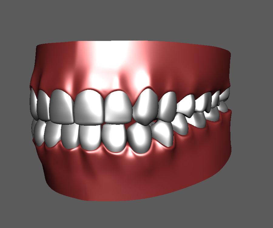 Teeth Cartoon royalty-free 3d model - Preview no. 3
