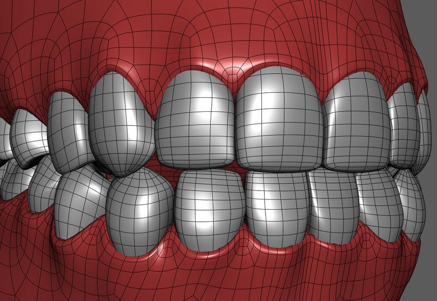 Teeth Cartoon royalty-free 3d model - Preview no. 8