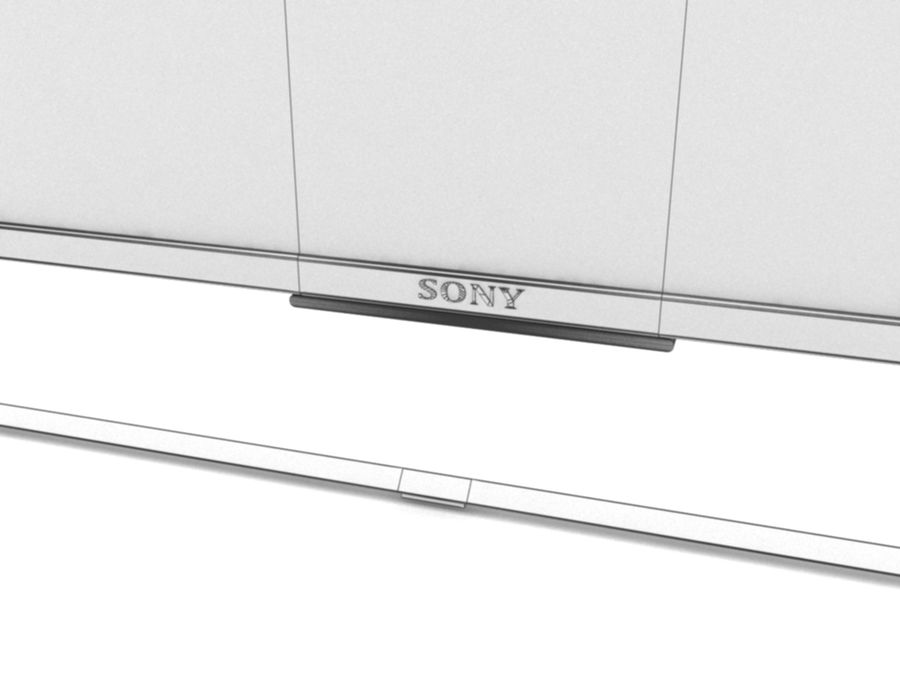 Sony Television royalty-free 3d model - Preview no. 4