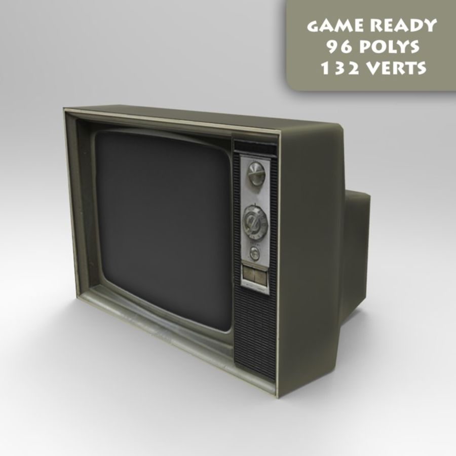 老电视游戏准备好了 royalty-free 3d model - Preview no. 1