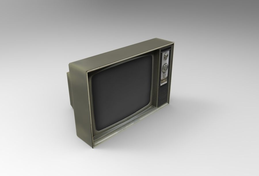 Old Tv Game Ready royalty-free 3d model - Preview no. 3