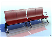 Red Leather Bench 3d model