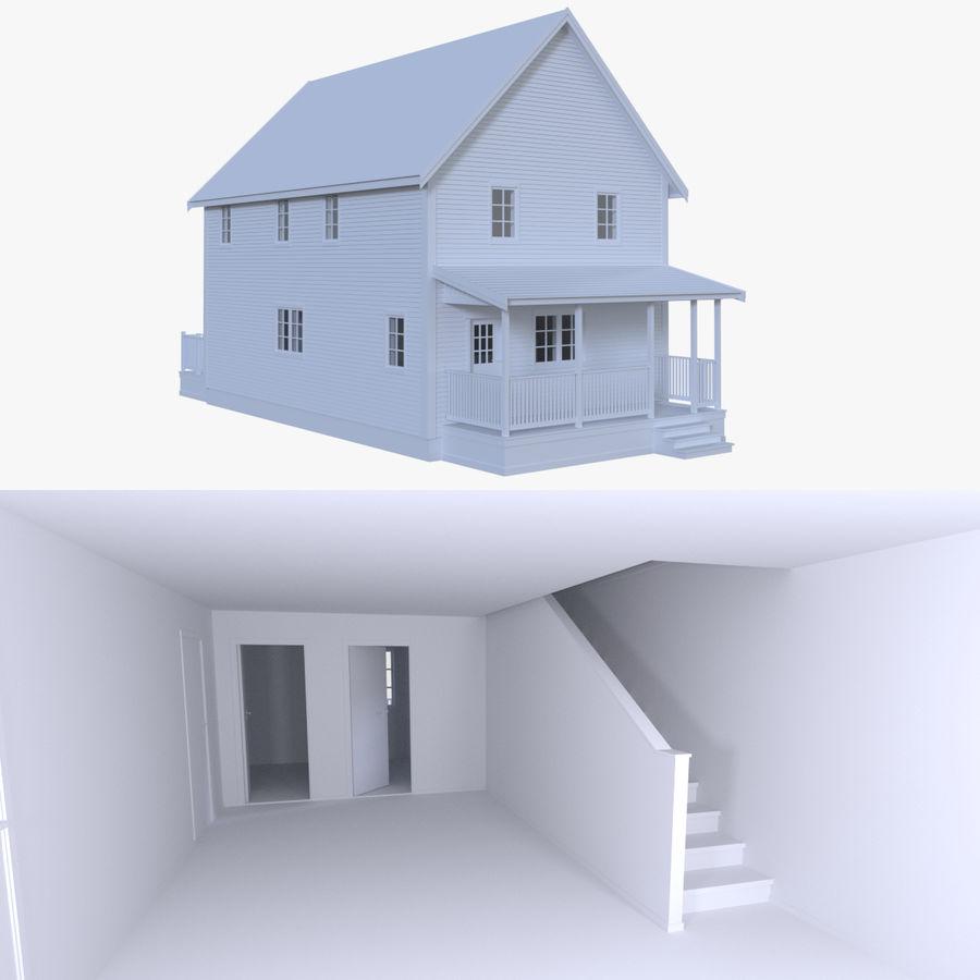 Maison six avec intérieur modèle 3D $19 - .obj .fbx .dae .blend - Free3D