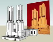 Mario Chiattone Cathedral 3d model