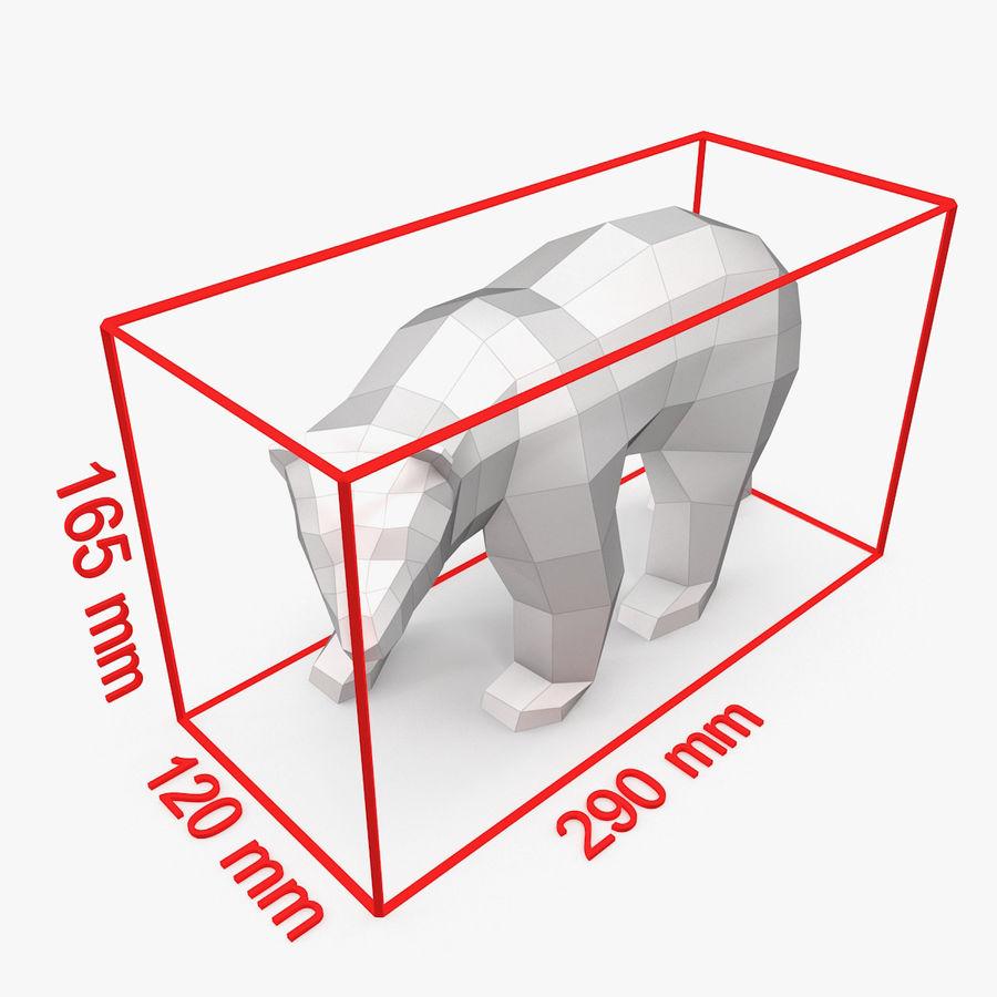 Polar Bear Papercraft royalty-free 3d model - Preview no. 7