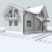 Wooden house 2 3d model