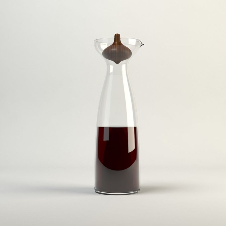 Decanters & Carafes Alfredo Glass Carafe royalty-free 3d model - Preview no. 1