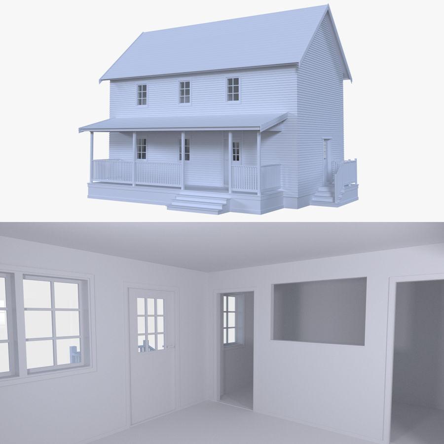 Maison quatre avec intérieur modèle 3D $19 - .blend .obj .fbx .dae ...
