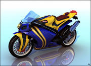 Super MotorBike RR Cartoon 3d model