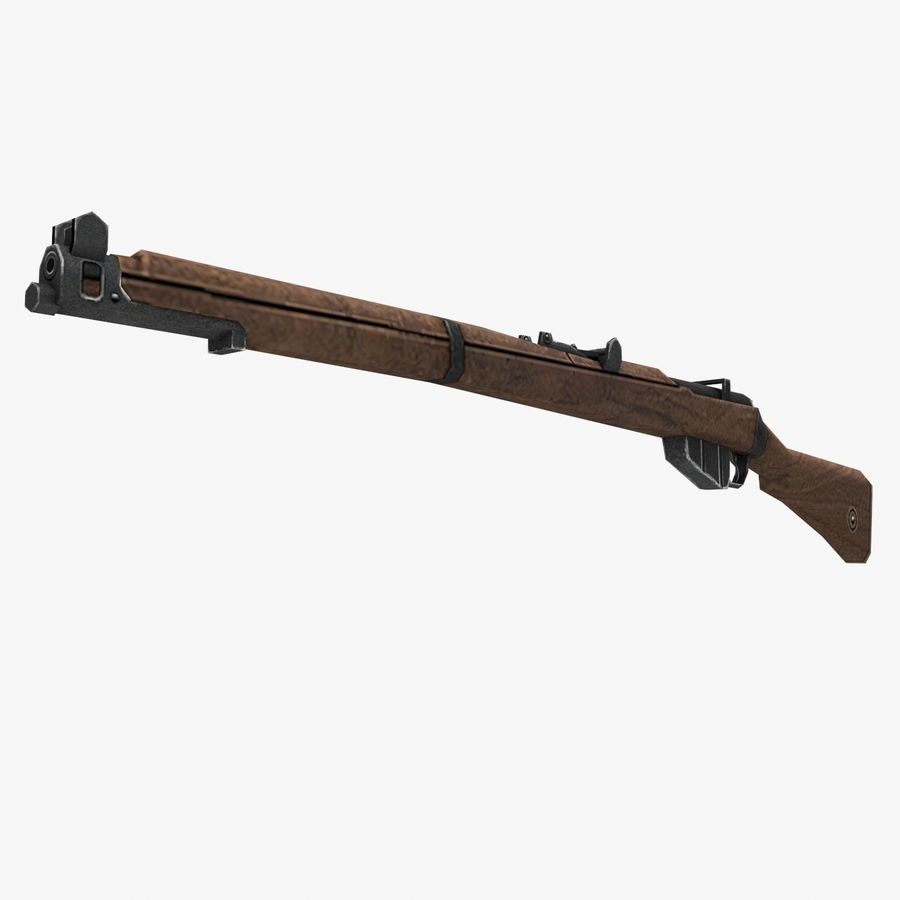 Lee-Enfield Mk3 royalty-free 3d model - Preview no. 12