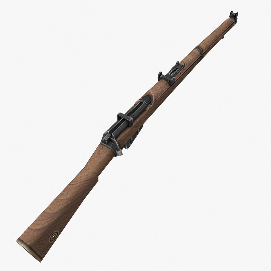 Lee-Enfield Mk3 royalty-free 3d model - Preview no. 6