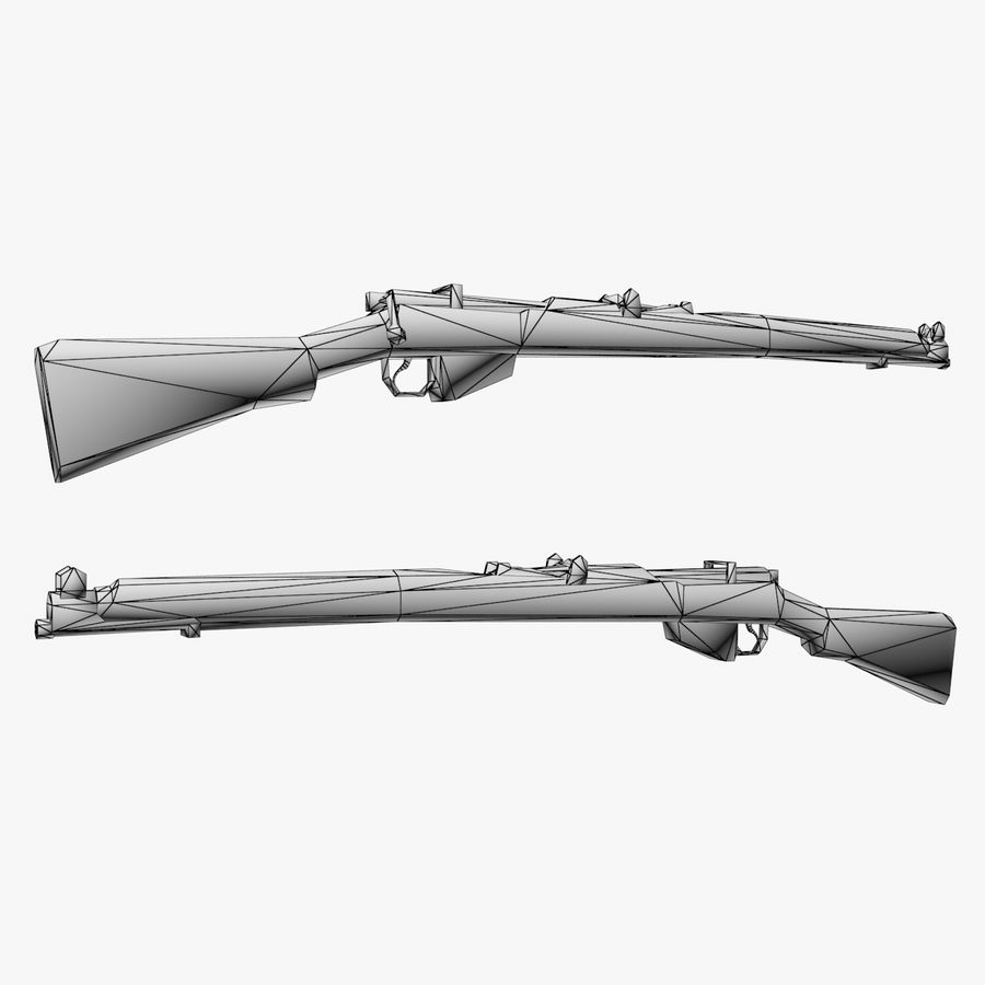 Lee-Enfield Mk3 royalty-free 3d model - Preview no. 3